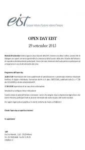 locandina open day eist