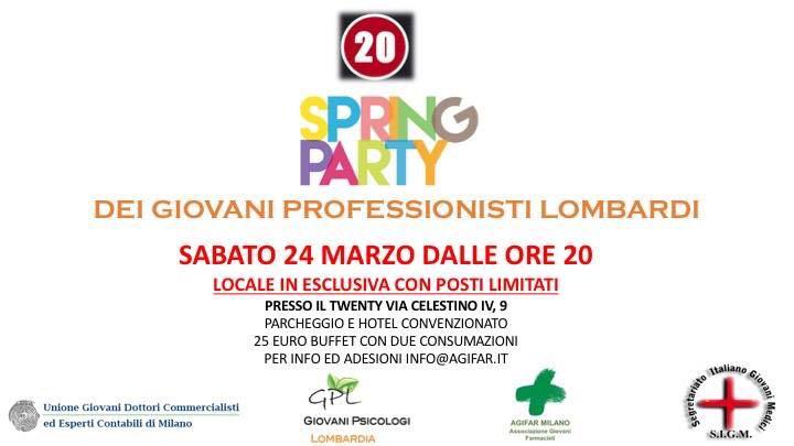 locandina spring party 24.3.18