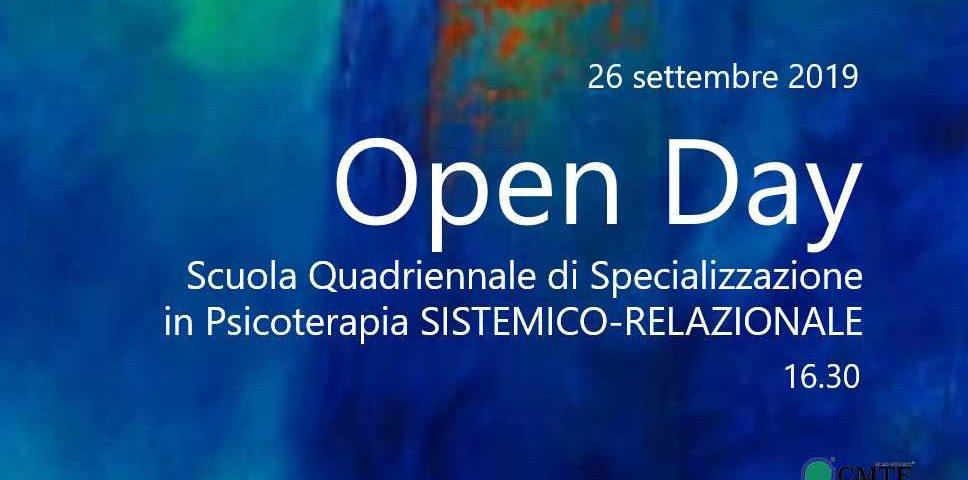 Open Day scuola Psicoterapia 26 settembre 2019